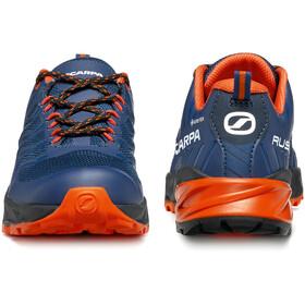Scarpa Rush GTX Shoes Kids blue/fiesta